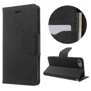 Pouzdro Goospery Fancy Diary pro iPhone 8 / iPhone 7 - černé