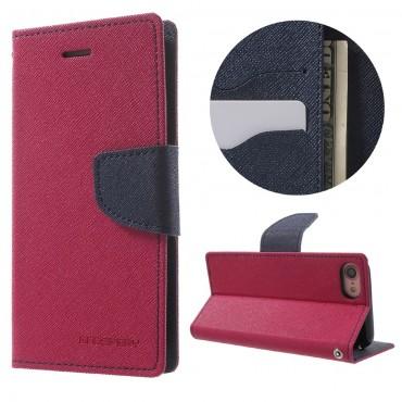 Pouzdro Goospery Fancy Diary pro iPhone 8 / iPhone 7 - magenta