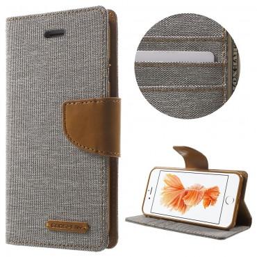 Pouzdro Goospery Canvas Diary pro iPhone 8 / iPhone 7 - šedé