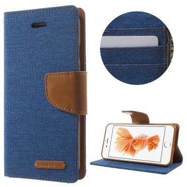 Pouzdro Goospery Canvas Diary pro iPhone 8 / iPhone 7 - modrý