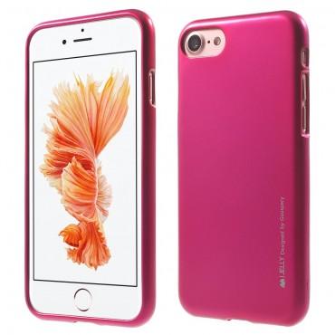 Kryt TPU gel Goospery iJelly Case pro iPhone 8 Plus / iPhone 7 Plus - magenta