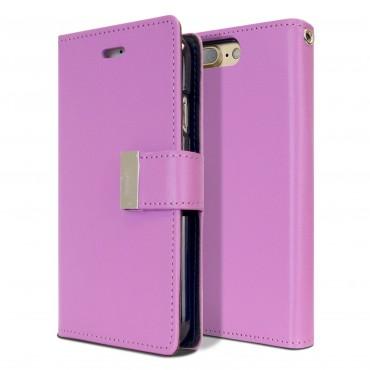 Elegantní kryt Goospery Rich Diary pro iPhone 8 Plus / iPhone 7 Plus - fialový