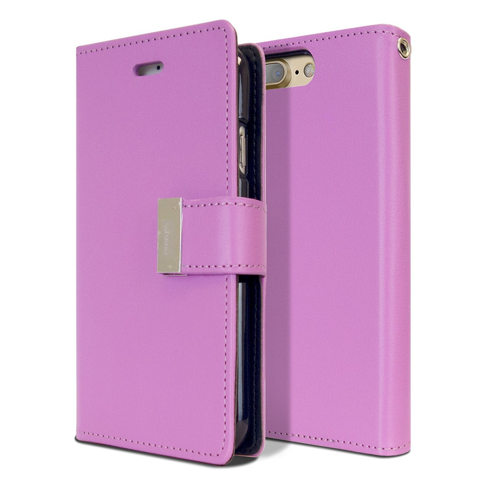 Elegantní pouzdro Goospery Rich Diary pro iPhone 8 Plus / iPhone 7 Plus - fialový