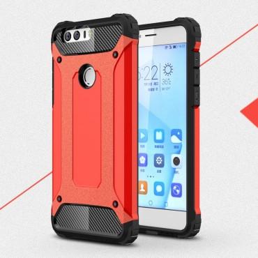 """Robustní obal """"Rock"""" pro Huawei Honor 8 - červený"""