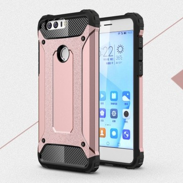 """Robustní obal """"Rock"""" pro Huawei Honor 8 - růžový"""