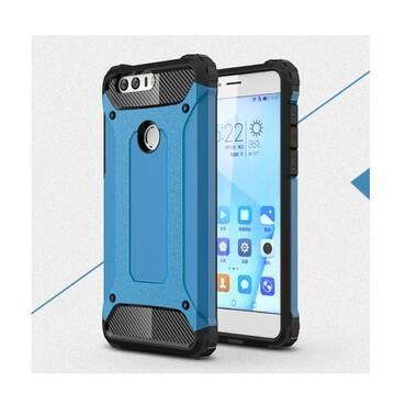 """Robustní obal """"Rock"""" pro Huawei Honor 8 - modrý"""