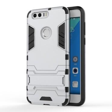 "Robustní kryt ""Impact X"" pro Huawei Honor 8 - stříbrné barvy"