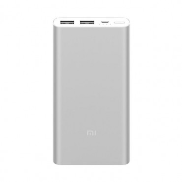 Power bank Xiaomi Mi 2 2017 Edition - 10 000 mAh - stříbrná