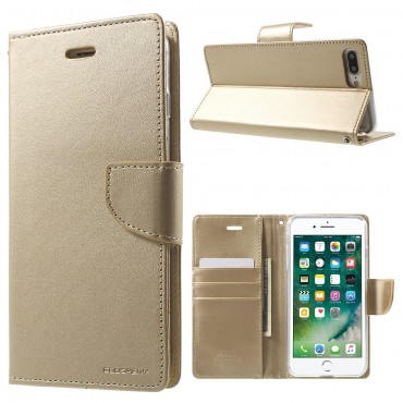 Pouzdro Goospery Bravo Diary pro iPhone 8 Plus / iPhone 7 Plus - zlatý