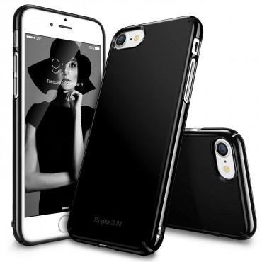 "Obal Ringke ""Slim"" pro iPhone 8 / iPhone 7 - leskle - leskle černý"