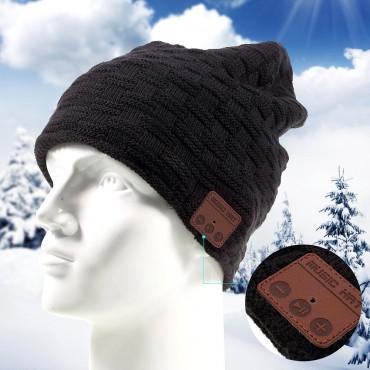 """Bluetooth čepice """"Beanie"""" s vestavěnými reproduktory, ovládáním a mikrofonem - černá"""