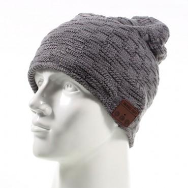 "Bluetooth čepice ""Beanie"" s vestavěnými reproduktory, ovládáním a mikrofonem - šedá"
