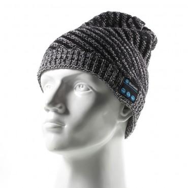 """Bluetooth čepice """"Twill"""" s vestavěnými reproduktory, ovládáním a mikrofonem - šedá"""