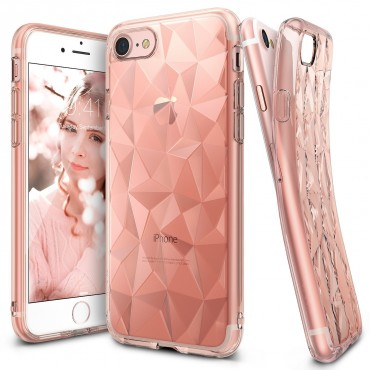 "Obal Ringke ""Air Prism"" pro iPhone 8 / iPhone 7 - růžově zlatý"