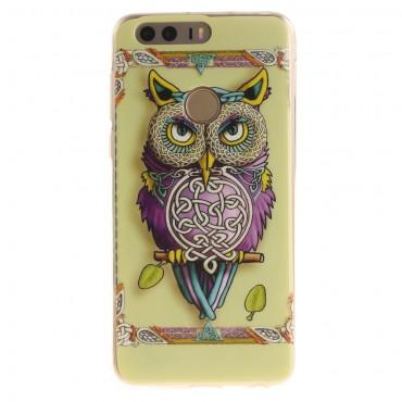 """Kryt TPU gel """"Tribal Owl"""" pro Huawei Honor 8"""