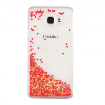 "Módní kryt ""Liquid Glitter"" pro Samsung Galaxy A5 2016 - červené"