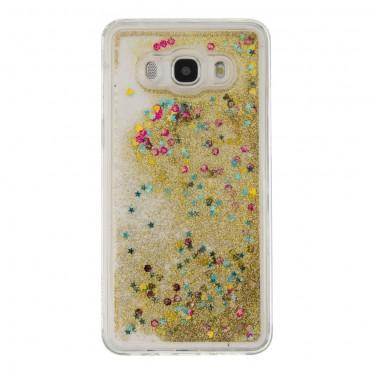 "Módní obal ""Liquid Glitter"" pro Samsung Galaxy J5 (2016) - zlaté barvy"