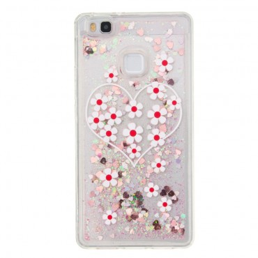 "Módní kryt ""Liquid Glitter"" pro Huawei P9 Lite - růžové"