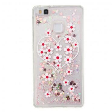 """Módní obal """"Liquid Glitter"""" pro Huawei P9 Lite - růžový"""