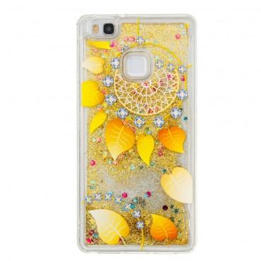 """Módní kryt """"Liquid Glitter"""" pro Huawei P9 Lite - zlatý"""