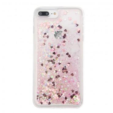 "Módní obal ""Liquid Glitter"" pro iPhone 8 Plus / iPhone 7 Plus - růžový"