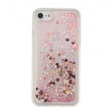 "Módní kryt ""Liquid Glitter"" pro iPhone 8 / iPhone 7 - fialový"