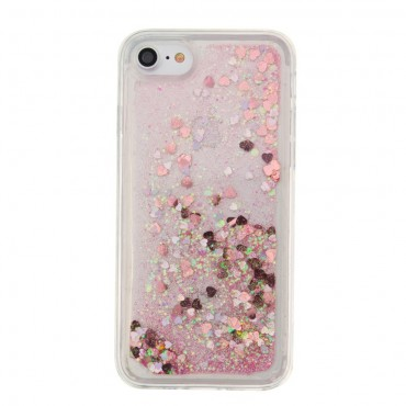 "Módní obal ""Liquid Glitter"" pro iPhone 8 / iPhone 7 - fialový"