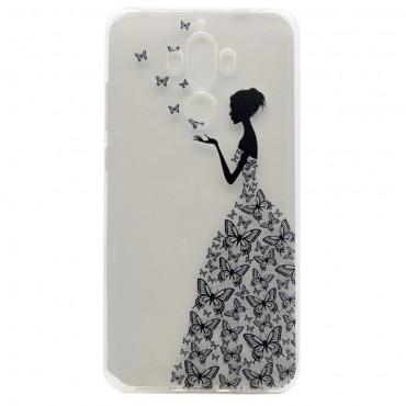 """Tenký kryt TPU gel """"Butterfly Dress"""" pro Huawei Mate 9"""