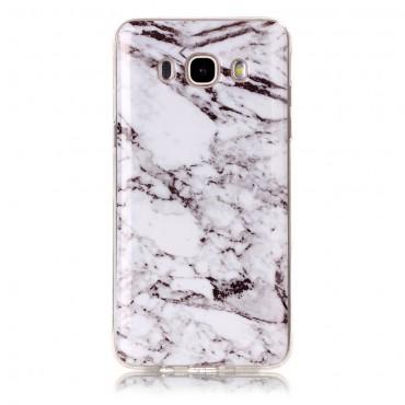 """Módní obal """"Marble"""" pro Samsung Galaxy J5 (2016) - bílý"""