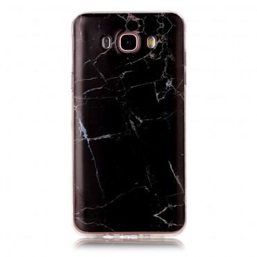 """Módní obal """"Marble"""" pro Samsung Galaxy J7 (2016) - černý"""