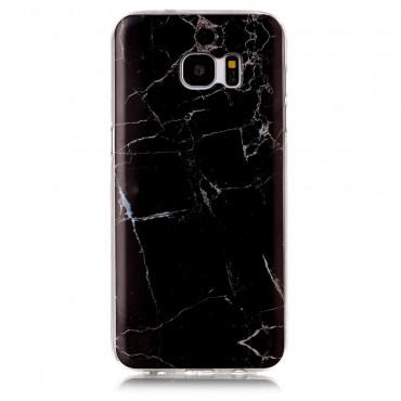 "Módní kryt ""Marble"" pro Samsung Galaxy S7 Edge - černé"