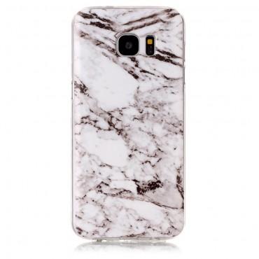 "Módní kryt ""Marble"" pro Samsung Galaxy S7 Edge - bílý"