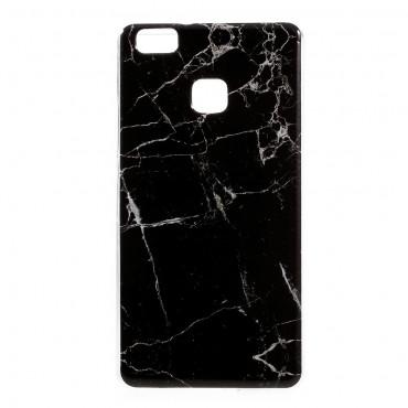 """Módní kryt """"Marble"""" pro Huawei P9 Lite - černé"""