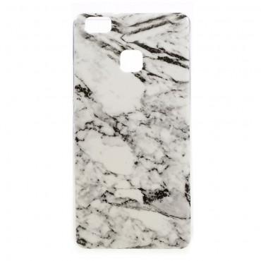 """Módní kryt """"Marble"""" pro Huawei P9 Lite - bílý"""