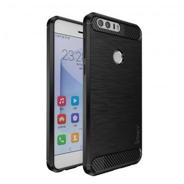 "Kryt TPU gel ""Brushed Ipaky"" pro Huawei Honor 8 - černý"