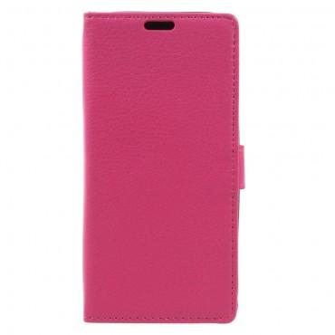"""Elegantní kryt """"Litchi"""" pro Samsung Galaxy A3 2017 - růžový"""