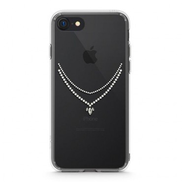 "Kryt Ringke ""Noble Necklace"" pro iPhone 8 / iPhone 7 - crystal view"