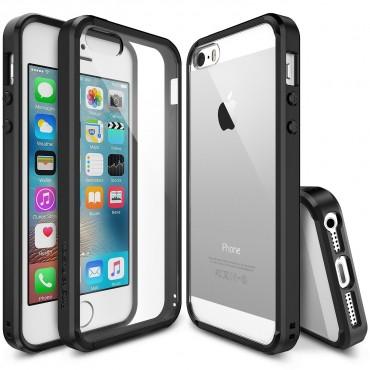 """Obal Ringke """"Fusion"""" pro iPhone SE / 5 / 5S - černý"""
