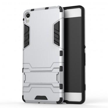 """Robustní kryt """"Impact X"""" pro Sony Xperia XA - stříbrné barvy"""