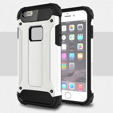 """Robustní obal """"Rock"""" pro iPhone 6 / 6S - bílý"""