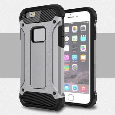 """Robustní kryt """"Rock"""" pro iPhone 6 / 6S - šedý"""