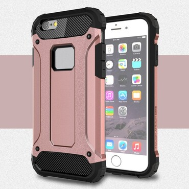 """Robustní obal """"Rock"""" pro iPhone 6 / 6S - růžový"""