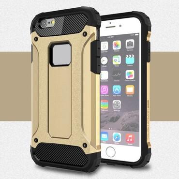 """Robustní obal """"Rock"""" pro iPhone 6 / 6S - zlaté barvy"""