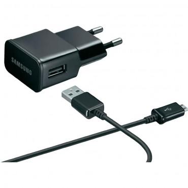 Originální nabíječka a microUSB kabel Samsung ETA-0U90 - černá (bulk)