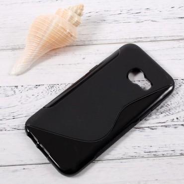 """TPU gelový obal """"S-Line"""" Samsung Galaxy A3 2017 - černý"""