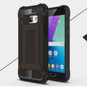 """Robustní kryt """"Rock"""" pro Samsung Galaxy A3 2017 - černé"""