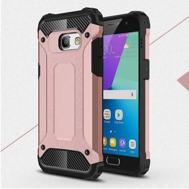 """Robustní kryt """"Rock"""" pro Samsung Galaxy A3 2017 - růžové"""