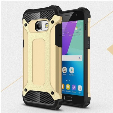 """Robustní obal """"Rock"""" pro Samsung Galaxy A3 2017 - zlaté barvy"""