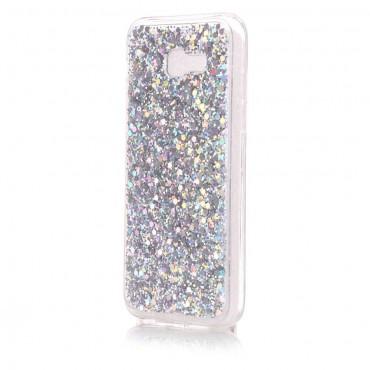 "Módní kryt ""Liquid Glitter"" pro Samsung Galaxy A5 2017 - stříbrné barvy"