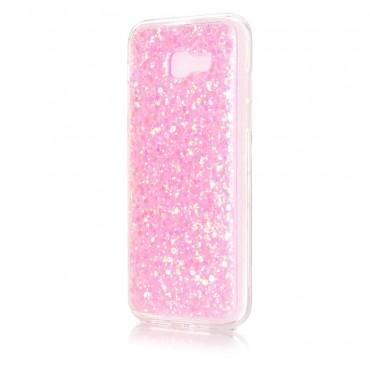 "Módní obal ""Liquid Glitter"" pro Samsung Galaxy A5 2017 - růžový"